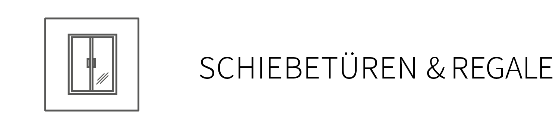 Schiebetüren und Glasregale